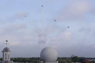 U.S. Air Force Thunderbirds Fly Over Walt Disney World To Honor Fallen Military Heroes
