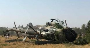 Afghan Army Mil Mi-17 Helicopter Crashes After Being Shot Killing 9