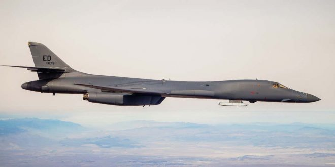 U.S. Air Force B-1 Bomber Spotted Carrying A Stealthy Cruise Missile Externally