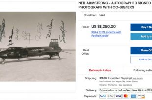 Auction House Lists Rare X-15 Photo Signed by 7 Test Pilots For $7000