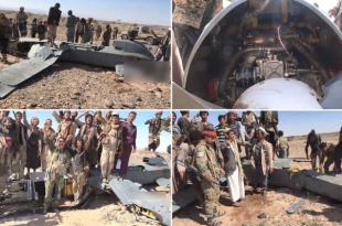 Royal Saudi Air Force Chinese-made CASC CH-4 Drone Allegedly Shot Down By Houthi Rebels Over Marib