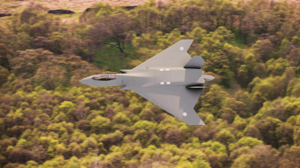 Here Are The New Images Of The Tempest Sixth-Generation Aircraft