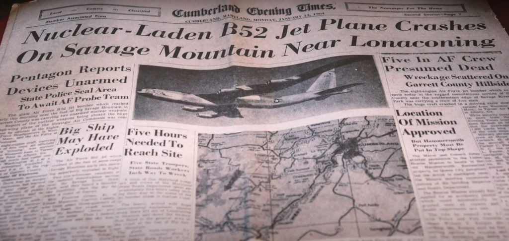 When a USAF B-52D Bomber Crashed With Two live Nuclear Bombs In Savage Mountain