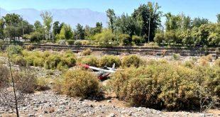 Chilean Air Force L-19A Bird Dog Plane Made A Crash Landing Near Municipal de Vitacura Airport