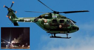 Indian Army HAL Dhruv Helicopter Crashes In J&K's Kathua District, Pilot Dead, Another Injured