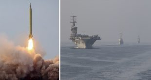 Iranian Long-Range Missiles Lands Within 100 Miles Of US Aircraft Carrier Strike Group In Indian Ocean