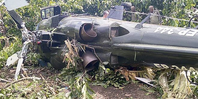 Peruvian Army Agusta A109K2 Helicopter Crashed Into Jungle Near Mazamari