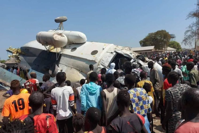 SSAF Mi-17 Helicopter Carrying Army General and 16 Others Crashed Upon Landing In Cueibet