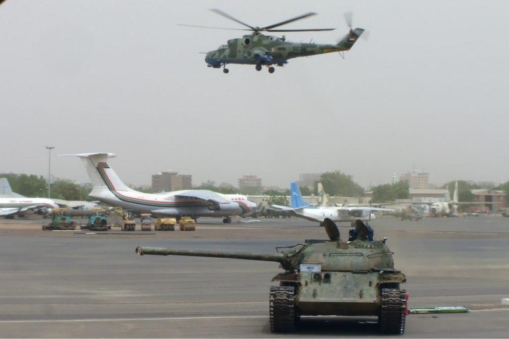 Sudan Armed Forces Military Helicopter Loaded With Weapons & Ammunition Crashes Upon Takeoff