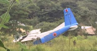 Zambian Air Force Y-12 Aircraft Skidded Off The Runway During Landing
