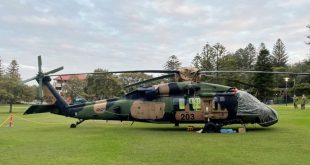 Australian Army Black Hawk Helicopter Made An Emergency Landing In Park After A Rotor Blade Was Damaged