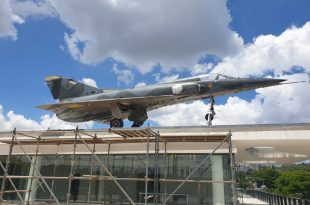 What That Mirage III Fighter Jet Is Doing On Top Of A Building In Sandton