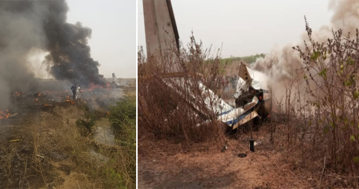 Nigerian Air Force Plane Crashed Shortly After Takeoff Killing All 7 On-board