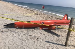 U.S. Air Force 20-foot-long High-Performance Drone Washes Up On Florida Beach