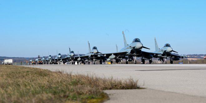 German Air Force Performed Weird Eurofighters Elephant Walk