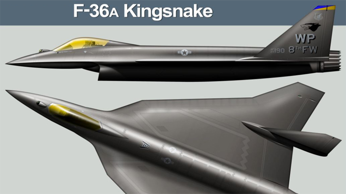 F-36 Kingsnake: A Brand-new Fighter Jet That Could Replace the F-16.