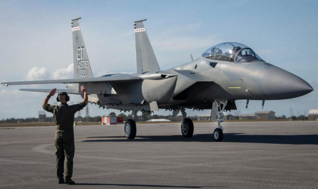 U.S. Air Force Receives First New F-15EX Fighter Jet