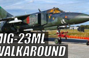 Walkaround Video Of The Soviet MiG-23 Flogger Fighter Jet