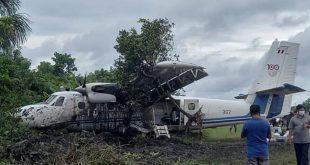 Peruvian Air Force Plane Veered Off The Runway While Landing At San Lorenzo Airport