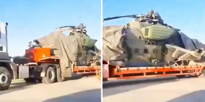 Russian Air Force Mil Mi-35M Helicopter Makes Emergency Landing In Syria Killing Pilot & Injuring Crew Members