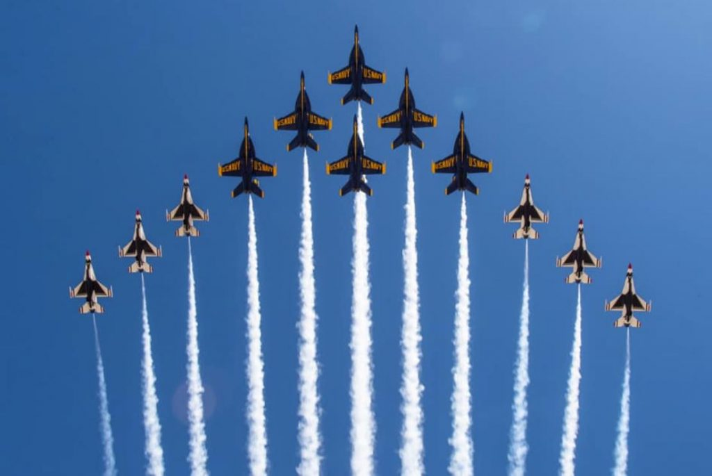 Watch: Blue Angels & Thunderbirds Team Up to Perform New 'Super Delta' Flying Formation