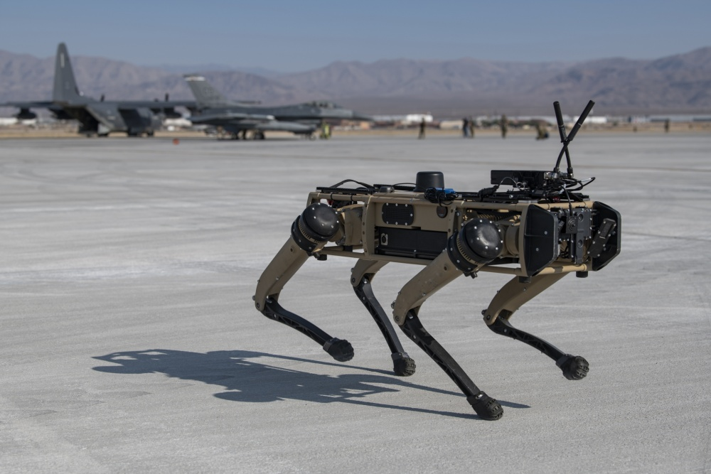 U.S. Air Force Officially Deploys Robot Dogs To Protect Aircraft