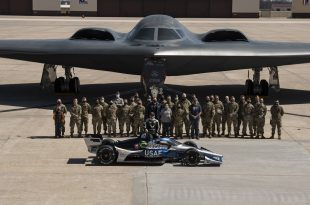 Here's Conor Daly's Air Force Chevy Featuring B-2 Stealth Bomber-inspired Livery