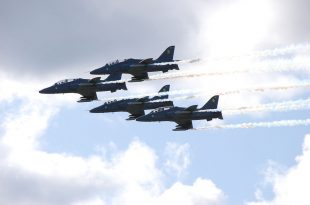 Midnight Hawks Aerobatic Team Jets Damaged After Contacting Each Other In Mid-air