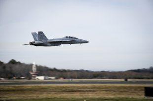 U.S. Navy Super Hornet Intake And Engine Damaged In Bird Strike