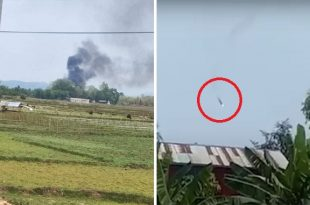 Myanmar Army Helicopter Shot Down by Kachin Independence Army