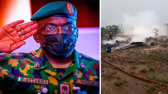 NAF Plane Crashes Killing 8 Onboard Including Nigerian Army Chief Ibrahim Attahiru