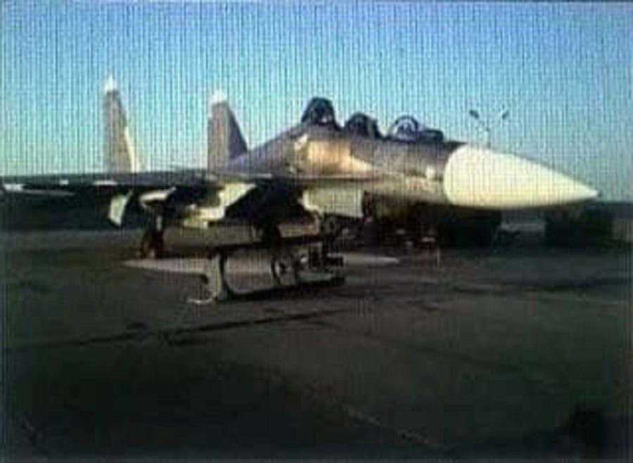 Two Pilots Eject From Sukhoi Su-30SM Fighter Jet On The Runway At Saki Air Base