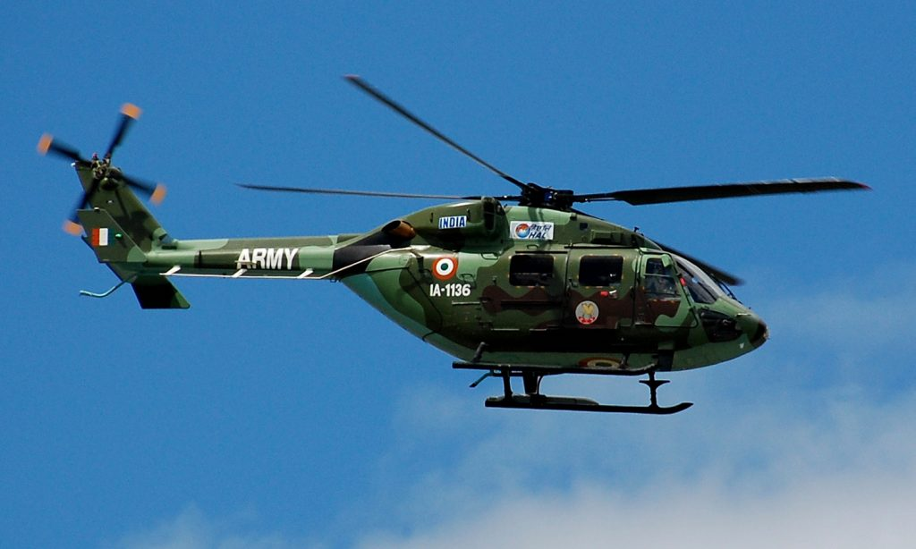 Indian Air Force HAL Dhruv Helicopter Makes Emergency Landing In Eastern Ladakh