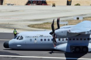 Portuguese Air Force CASA C-295M Aircraft Suffered Nose Gear Collapse