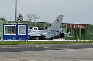 Belgian Air Force F-16 Collides With Building At Leeuwarden Air Base