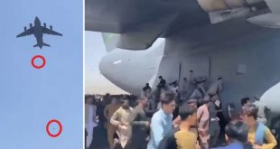 VIDEO: Desperate Afghans Who Clung To USAF C-17 Globemaster Falling From Sky
