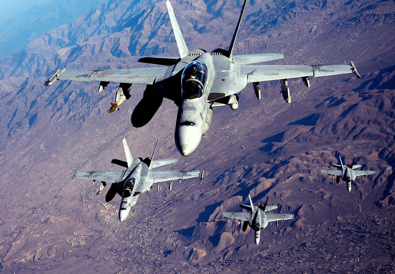 American Combat Aircraft Flying Armed Overwatch Sorties Over Kabul