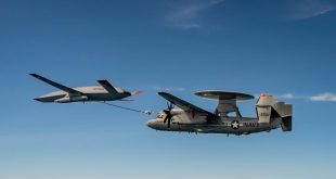 MQ-25 Stingray Drone Completes First Air-to-Air Refueling With An E-2D Hawkeye