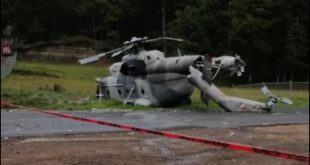 Watch: Mexican Navy Mi-17 Helicopter Crashes Shortly After Takeoff