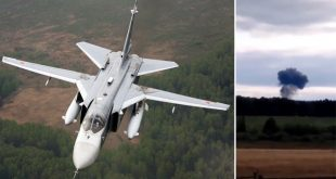 Russian Air Force Sukhoi Su-24 Bomber Crashed Near Perm
