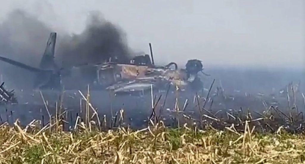 Brazilian Air Force A-29A Super Tucano Crashes In A Field Near Campo Grande