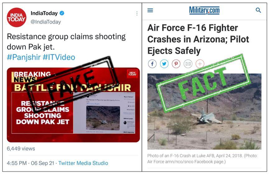 Fact check: Viral Picture Of PAF F-16 Shutdown In Panjshir Is fake