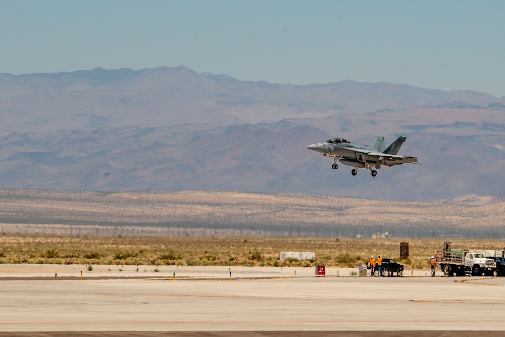 U.S. Navy F/A-18F Super Hornet Crashes in Death Valley
