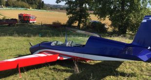French Air Force EA-330LC Aerobatic Aircraft Makes Emergency Landing In A Field
