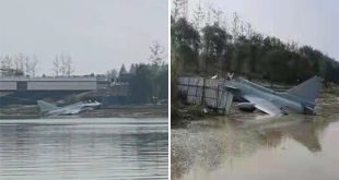 Video Shows Chinese J-10S Fighter Jet Crashing Into River